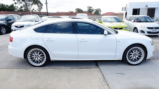 2011 Audi A5 8T MY11 Sportback S Tronic Quattro White 7 Speed Sports Automatic Dual Clutch Hatchback