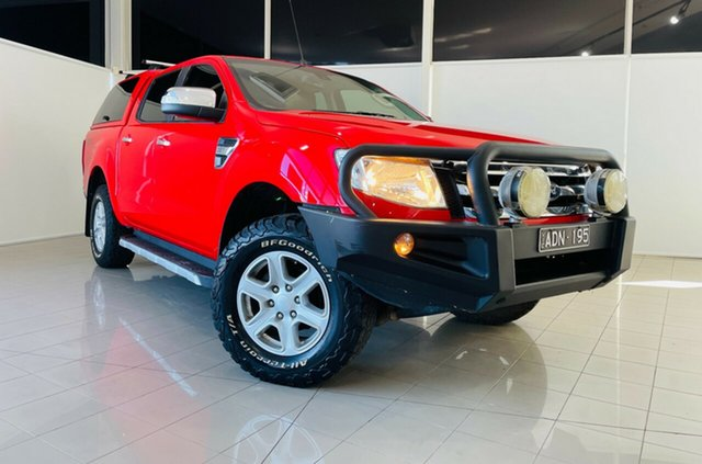 Used Ford Ranger PX XLT Double Cab Deer Park, 2015 Ford Ranger PX XLT Double Cab Red 6 Speed Sports Automatic Utility