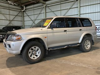 2002 Mitsubishi Challenger PA MY02 Silver 4 Speed Automatic Wagon.