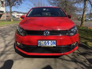 2017 Volkswagen Polo 6R MY17 66TSI DSG Trendline Red 7 Speed Sports Automatic Dual Clutch Hatchback