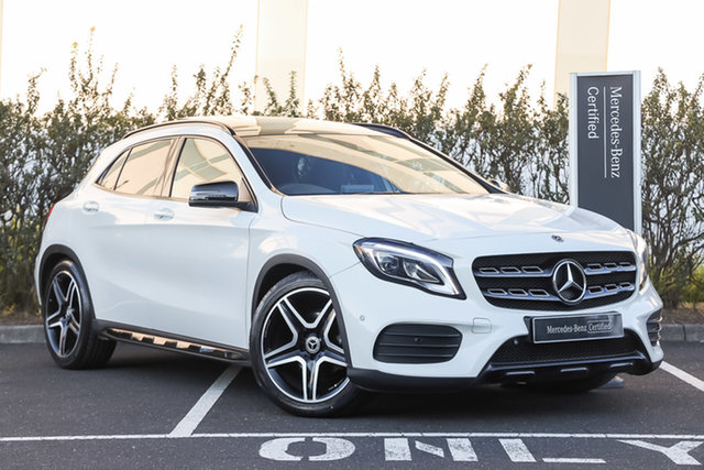 Certified Pre-Owned Mercedes-Benz GLA-Class X156 808MY GLA180 DCT Mulgrave, 2017 Mercedes-Benz GLA-Class X156 808MY GLA180 DCT Cirrus White 7 Speed Sports Automatic Dual Clutch