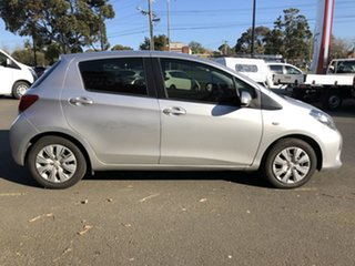 2014 Toyota Yaris NCP130R MY15 Ascent Silver Pearl 4 Speed Automatic Hatchback.