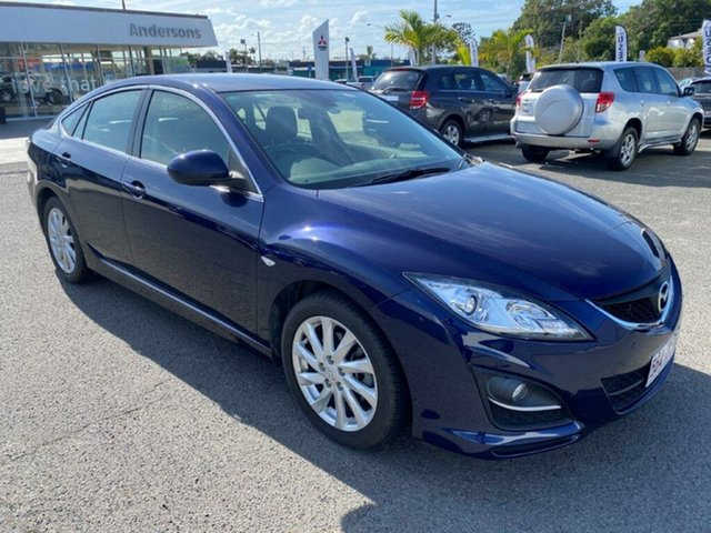 Used Mazda 6 GH1052 MY12 Touring Gladstone, 2011 Mazda 6 GH1052 MY12 Touring Blue 5 Speed Sports Automatic Hatchback
