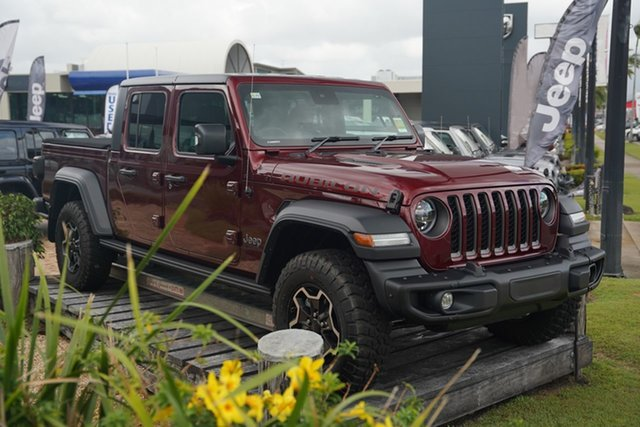 New Jeep Gladiator JT MY21 V2 Rubicon Pick-up Cairns, 2021 Jeep Gladiator JT MY21 V2 Rubicon Pick-up Velvet Red 8 Speed Automatic Utility