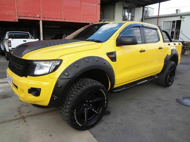 Used Ford Ranger PX XL 2.2 Hi-Rider (4x2) Coopers Plains, 2013 Ford Ranger PX XL 2.2 Hi-Rider (4x2) Yellow 6 Speed Automatic Crew Cab Pickup