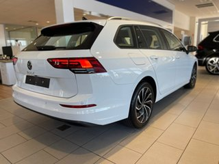 2021 Volkswagen Golf 8 MY21 110TSI Life Pure White 8 Speed Sports Automatic Wagon.