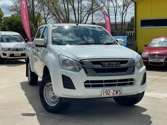 Used Isuzu D-MAX MY17 SX Crew Cab 4x2 High Ride Toowoomba, 2017 Isuzu D-MAX MY17 SX Crew Cab 4x2 High Ride White 6 Speed Sports Automatic Utility