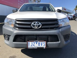 2017 Toyota Hilux TGN121R Workmate Glacier White 6 Speed Automatic Cab Chassis