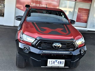 2020 Toyota Hilux GUN126R Rugged X Double Cab Feverish Red 6 Speed Sports Automatic Utility.