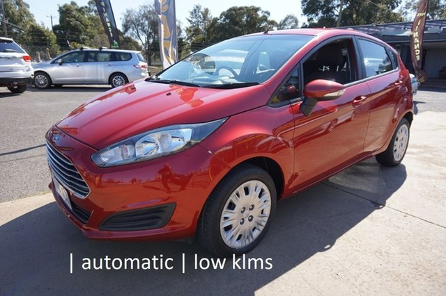 Used Ford Fiesta WZ MY15 Ambiente PwrShift Dandenong, 2014 Ford Fiesta WZ MY15 Ambiente PwrShift Candy Red 6 Speed Sports Automatic Dual Clutch Hatchback