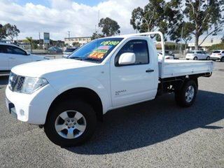2012 Nissan Navara D40 S7 MY12 RX White 6 Speed Manual Cab Chassis.