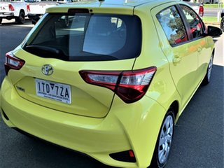 2019 Toyota Yaris NCP130R Ascent Vivid Yellow 4 Speed Automatic Hatchback