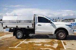 2015 Mitsubishi Triton MQ MY16 GLX 4x2 White 5 Speed Sports Automatic Cab Chassis.