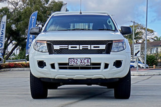2012 Ford Ranger PX XL Cool White 6 Speed Sports Automatic Utility.