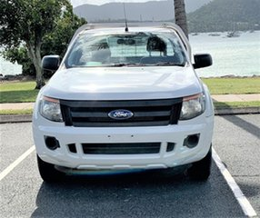 2013 Ford Ranger PX XL Alaskan White 6 Speed Manual Utility.