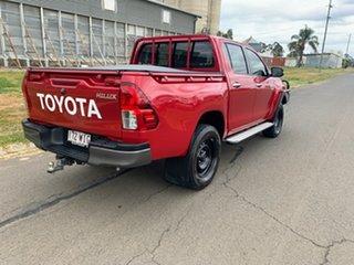 2016 Toyota Hilux GUN126R SR (4x4) Olympia Red 6 Speed Automatic Dual Cab Utility