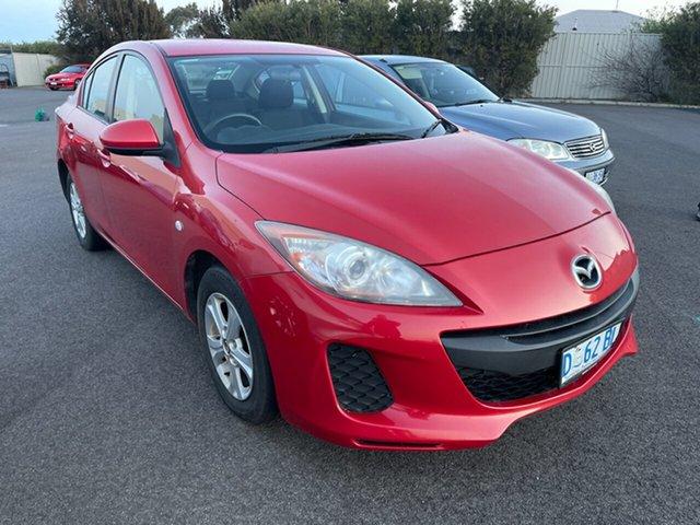 Used Mazda 3 BL10F2 MY13 Neo Devonport, 2013 Mazda 3 BL10F2 MY13 Neo Red 6 Speed Manual Sedan
