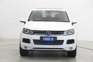 2014 Volkswagen Touareg 7P MY14 V6 TDI Tiptronic 4MOTION White 8 Speed Sports Automatic Wagon.