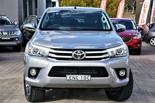 2017 Toyota Hilux GUN126R SR5 Double Cab Silver 6 Speed Sports Automatic Utility.