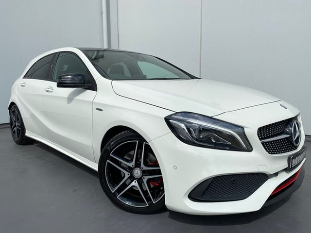 Used Mercedes-Benz A-Class W176 808MY A250 D-CT 4MATIC Sport Liverpool, 2017 Mercedes-Benz A-Class W176 808MY A250 D-CT 4MATIC Sport White 7 Speed
