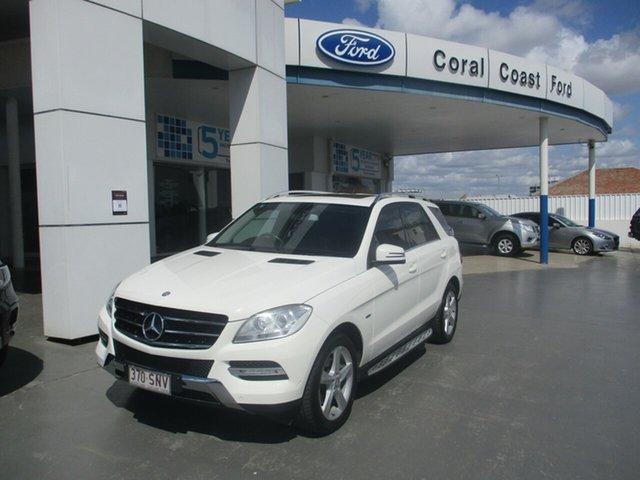 Used Mercedes-Benz ML250 CDI BlueTEC 166 4x4 Bundaberg, 2012 Mercedes-Benz ML250 CDI BlueTEC 166 4x4 White 7 Speed Automatic Wagon
