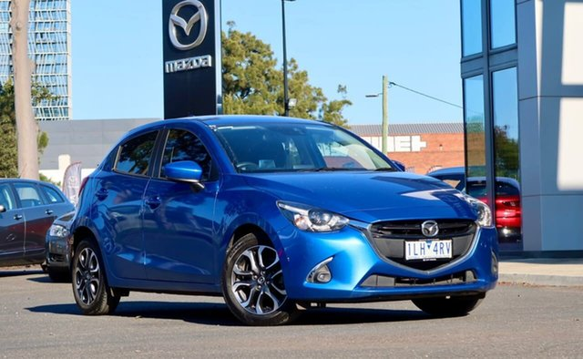Used Mazda 2 DJ2HAA Genki SKYACTIV-Drive South Melbourne, 2017 Mazda 2 DJ2HAA Genki SKYACTIV-Drive Dynamic Blue 6 Speed Sports Automatic Hatchback