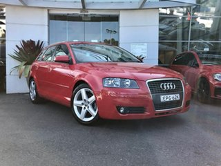 2007 Audi A3 8P Ambition Sportback S Tronic Red 6 Speed Sports Automatic Dual Clutch Hatchback.