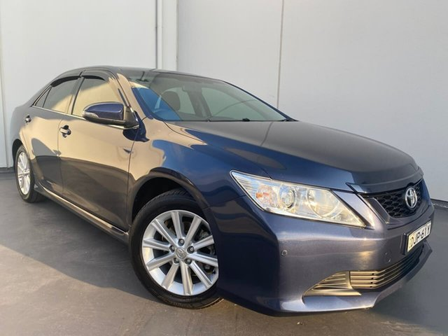 Used Toyota Aurion GSV50R AT-X Liverpool, 2016 Toyota Aurion GSV50R AT-X Blue 6 Speed Sports Automatic Sedan