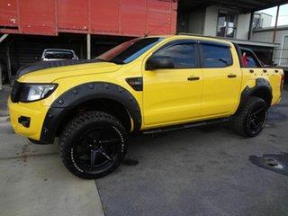 2013 Ford Ranger PX XL 2.2 Hi-Rider (4x2) Yellow 6 Speed Automatic Crew Cab Pickup