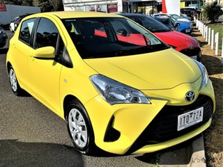 2019 Toyota Yaris NCP130R Ascent Vivid Yellow 4 Speed Automatic Hatchback.