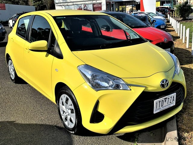 Pre-Owned Toyota Yaris NCP130R Ascent Ferntree Gully, 2019 Toyota Yaris NCP130R Ascent Vivid Yellow 4 Speed Automatic Hatchback
