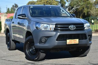 2017 Toyota Hilux GUN125R Workmate Double Cab Silver 6 Speed Sports Automatic Utility.