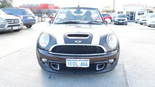 2011 Mini Cabrio R57 LCI Cooper S Steptronic Brown 6 Speed Sports Automatic Convertible.