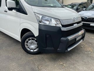 2019 Toyota HiAce GDH322R Commuter High Roof Super LWB French Vanilla 6 Speed Automatic Bus.
