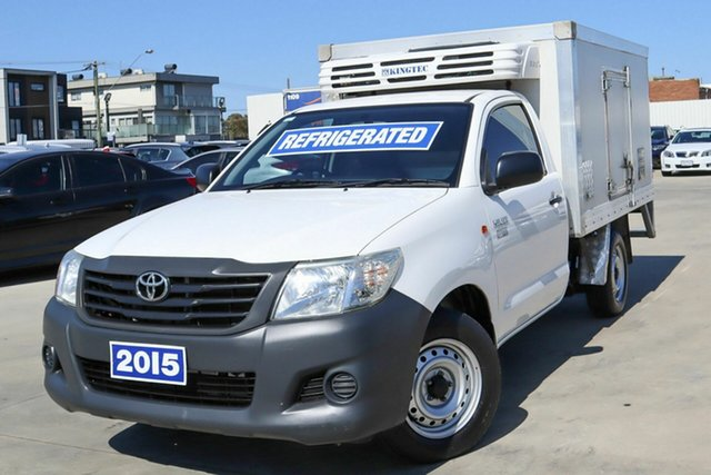 Used Toyota Hilux TGN16R MY14 Workmate 4x2 Coburg North, 2015 Toyota Hilux TGN16R MY14 Workmate 4x2 White 4 Speed Automatic Cab Chassis