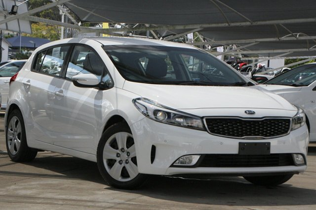 Used Kia Cerato YD MY18 S Bundamba, 2018 Kia Cerato YD MY18 S White 6 Speed Sports Automatic Hatchback