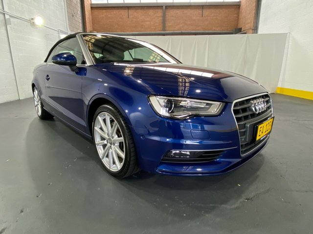 Used Audi A3 8V MY15 Ambition S Tronic Castle Hill, 2014 Audi A3 8V MY15 Ambition S Tronic Blue 7 Speed Sports Automatic Dual Clutch Cabriolet