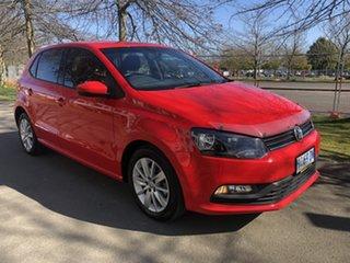2017 Volkswagen Polo 6R MY17 66TSI DSG Trendline Red 7 Speed Sports Automatic Dual Clutch Hatchback.