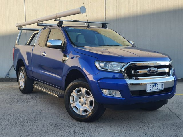 Used Ford Ranger PX MkII XLT Super Cab 4x2 Hi-Rider Oakleigh, 2016 Ford Ranger PX MkII XLT Super Cab 4x2 Hi-Rider Blue 6 Speed Sports Automatic Utility