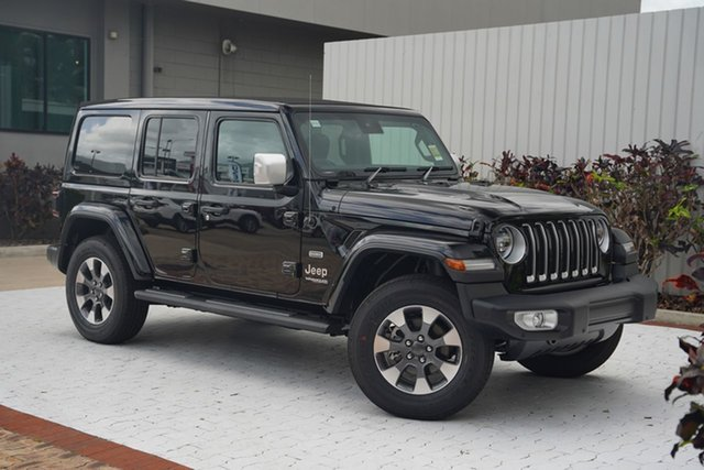 New Jeep Wrangler JL MY21 Unlimited Overland Cairns, 2021 Jeep Wrangler JL MY21 Unlimited Overland Gloss Black 8 Speed Automatic Hardtop