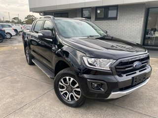 2019 Ford Ranger PX MkIII 2019.00MY Wildtrak Black 6 Speed Sports Automatic Double Cab Pick Up.