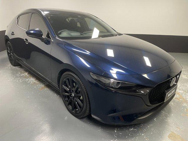 Used Mazda 3 BP2HLA G25 SKYACTIV-Drive Astina Hamilton, 2019 Mazda 3 BP2HLA G25 SKYACTIV-Drive Astina Blue 6 Speed Sports Automatic Hatchback