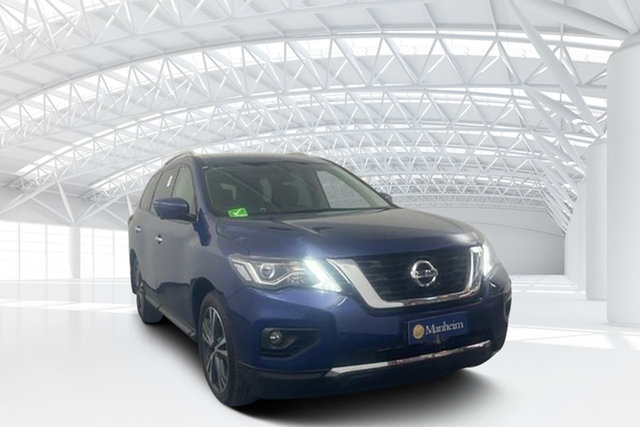 Used Nissan Pathfinder R52 Series III MY19 Ti X-tronic 2WD Moorebank, 2019 Nissan Pathfinder R52 Series III MY19 Ti X-tronic 2WD Blue 1 Speed Constant Variable Wagon