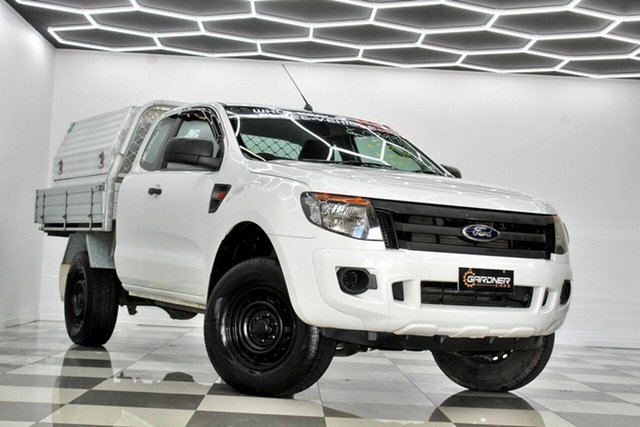 Used Ford Ranger PX XL 2.2 Hi-Rider (4x2) Burleigh Heads, 2014 Ford Ranger PX XL 2.2 Hi-Rider (4x2) White 6 Speed Automatic Super Cab Chassis