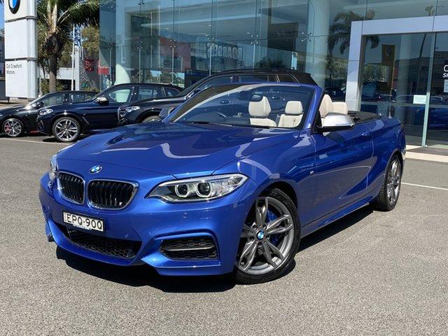 Used BMW M235i F23 Brookvale, 2015 BMW M235i F23 Estoril Blue 8 Speed Automatic Convertible