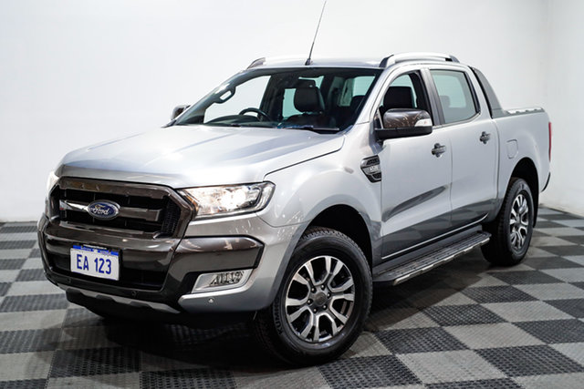 Used Ford Ranger PX MkII Wildtrak Double Cab Edgewater, 2016 Ford Ranger PX MkII Wildtrak Double Cab Silver 6 Speed Sports Automatic Utility