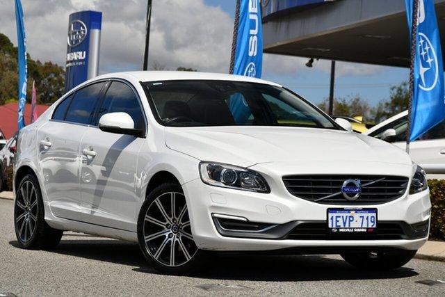 Used Volvo S60 F Series MY15 T4 PwrShift Luxury Melville, 2014 Volvo S60 F Series MY15 T4 PwrShift Luxury White 6 Speed Sports Automatic Dual Clutch Sedan