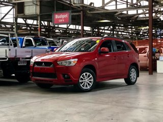 2010 Mitsubishi ASX XA MY11 Red 6 Speed Constant Variable Wagon.