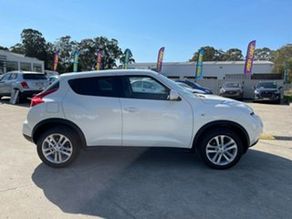 2014 Nissan Juke F15 MY14 ST 2WD White 1 Speed Constant Variable Hatchback.