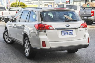 2011 Subaru Outback B5A MY11 2.5i Lineartronic AWD White 6 Speed Constant Variable Wagon.